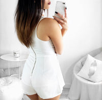 WHITE INDIE PLAYSUIT **LIMITED STOCK** - Fashion Flash Boutique
