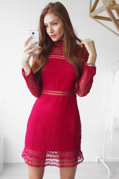 WANDERLUST DRESS - DUSTY RED - Fashion Flash Boutique