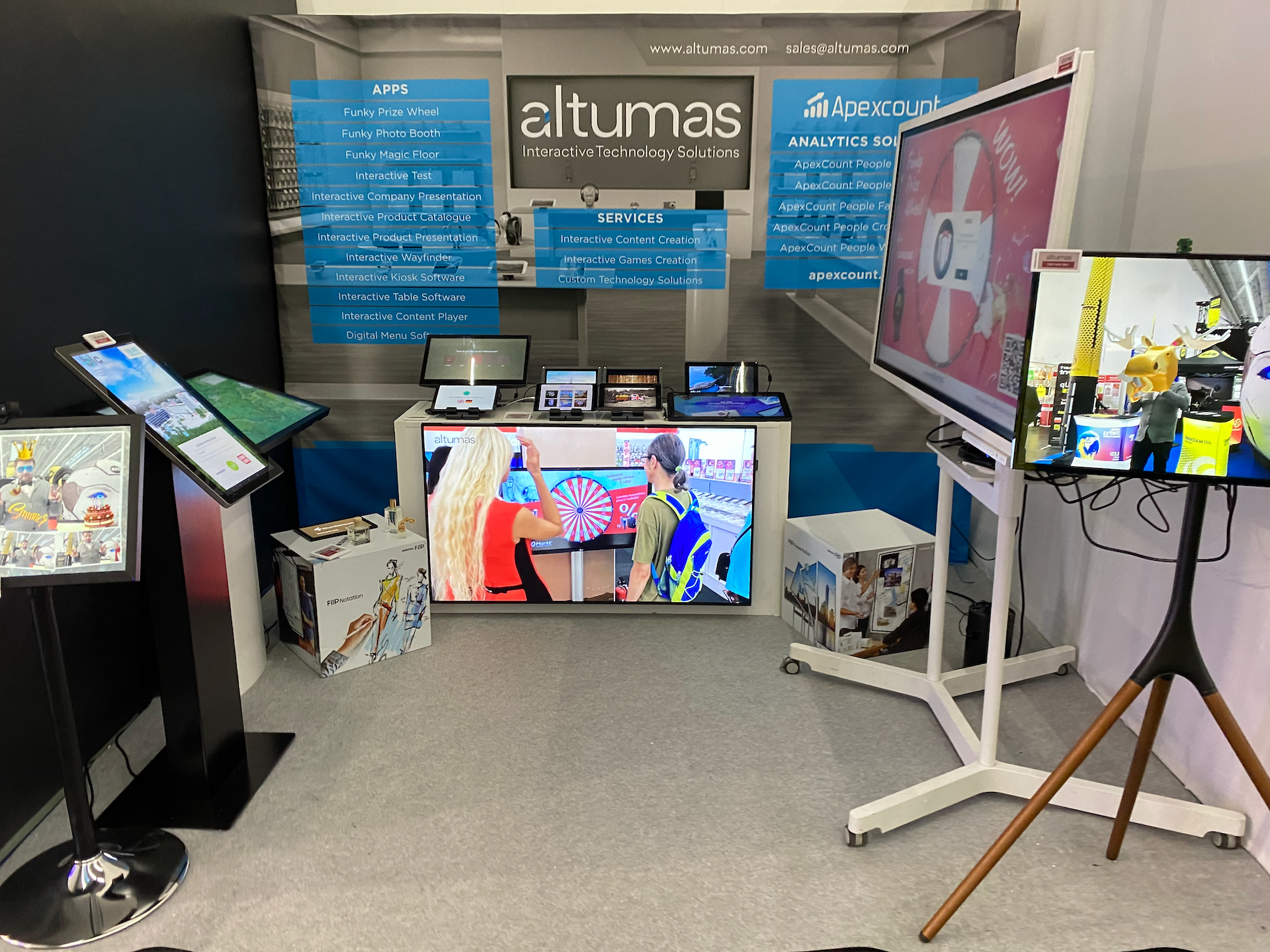ALTUMAS company presented interactive product solution with SENSUM HOME in EUROSHOP tradeshow