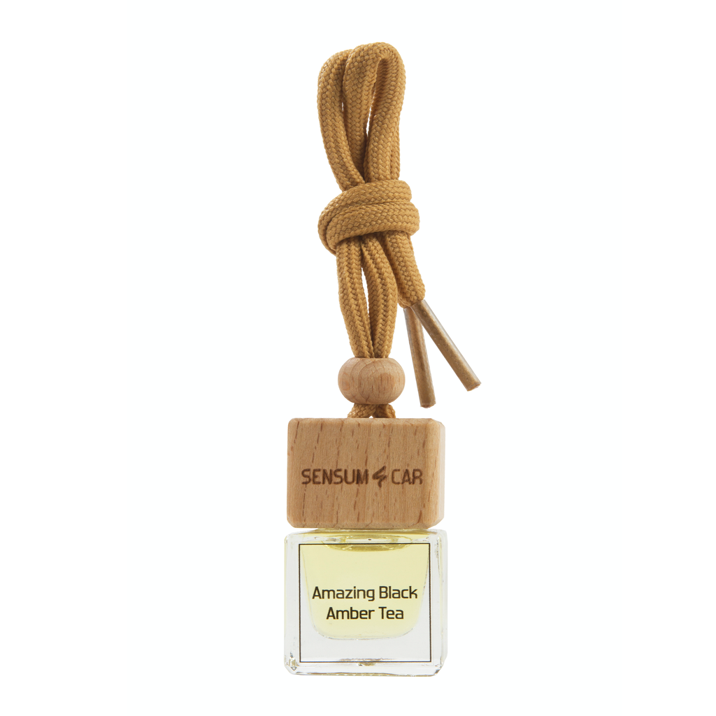 SENSUM CAR Luxury Perfume with hanging bottle - AMAZING BLACK AMBER TEA