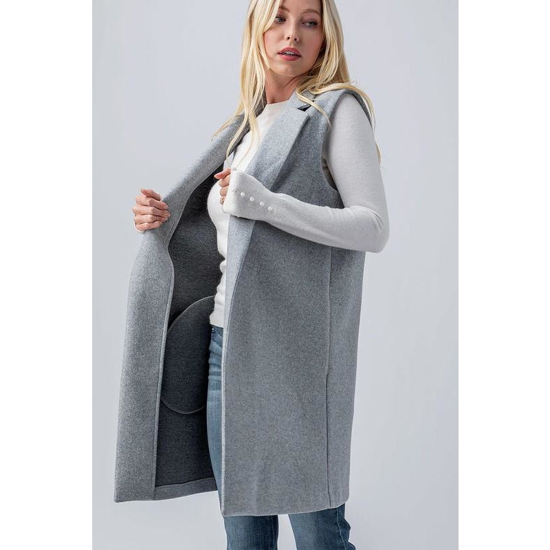 Felted Vest With Pockets