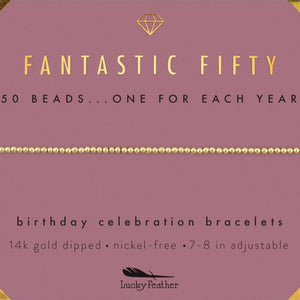 "Lucky Feather Bracelet - ""Fantastic Fifty"""
