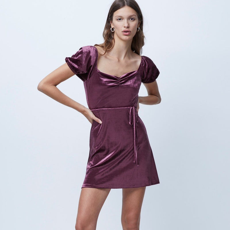 French Connection Velvet Dress