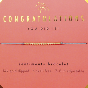 "Lucky Feather Bracelet - ""Congratulations"""