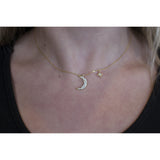 Moon North Star Necklace