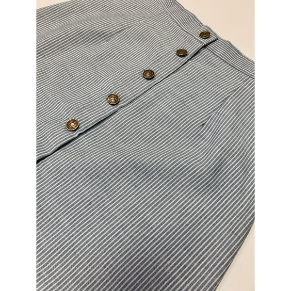 Button Pinstripe Skirt