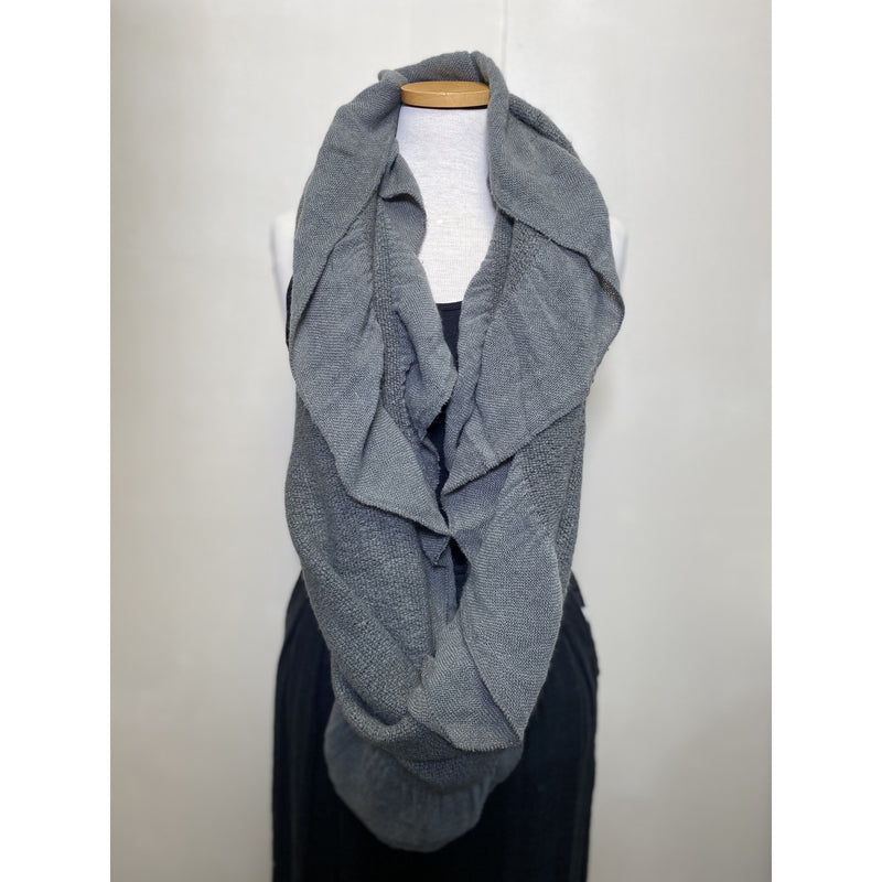 Ruffled Edged Infinity Scarf