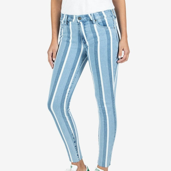 KUT Pin Stripe Connie Ankle Skinny