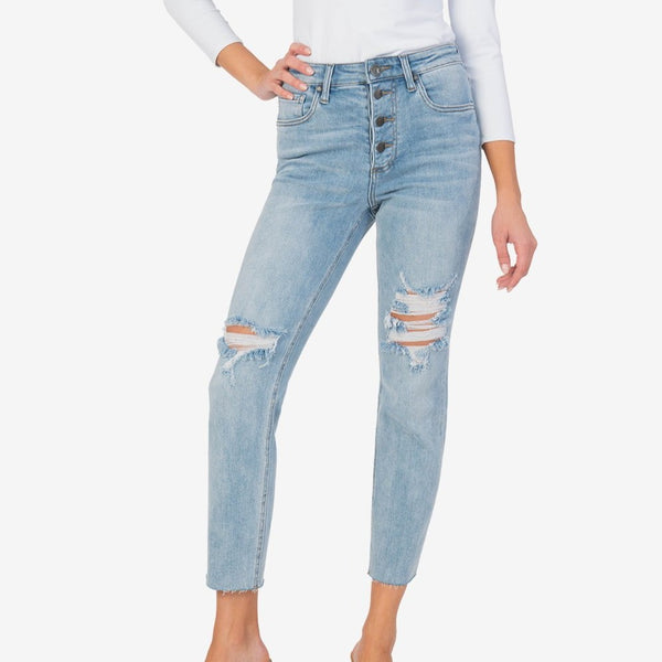 Rachael High Rise Mom Jean (Conceptualize Wash)