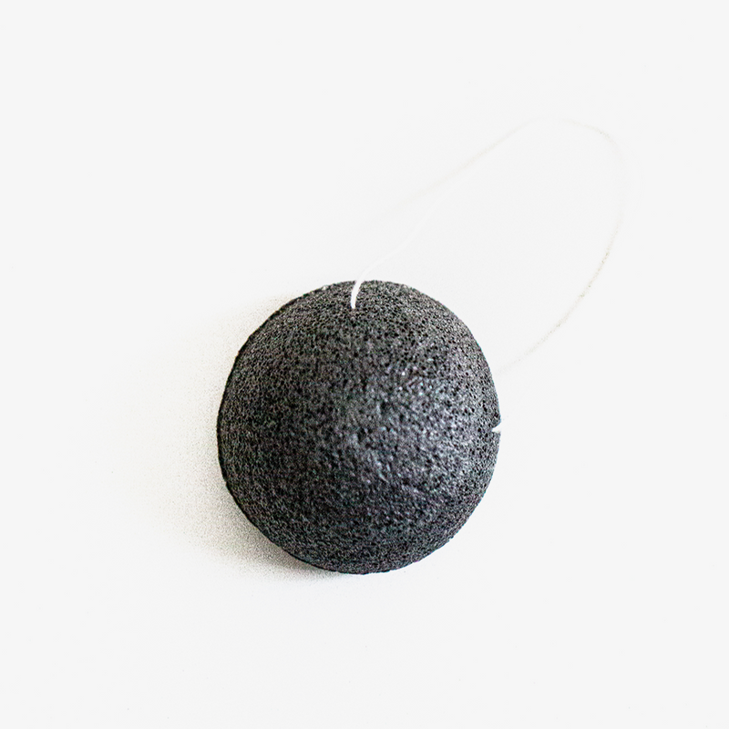 Apothecary Co. - Natural Bamboo Charcoal Konjac Sponge