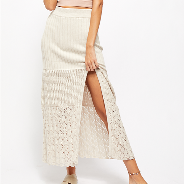 Free People Bari Column Skirt