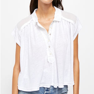 Free People Low Down Henley Top