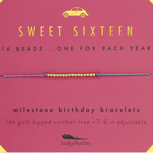 "Lucky Feather Bracelet - ""Sweet Sixteen"""