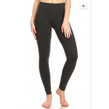 Basic Elastic Waistband Leggings