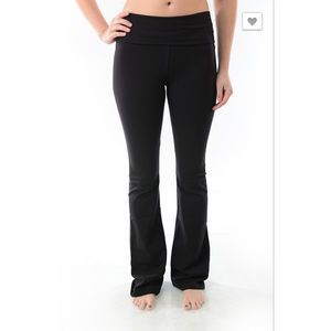 Bootcut Yoga Pants with Foldover Waistband