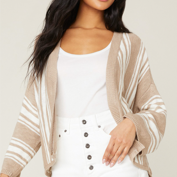BB Dakota Take A Stripe At It Cardigan