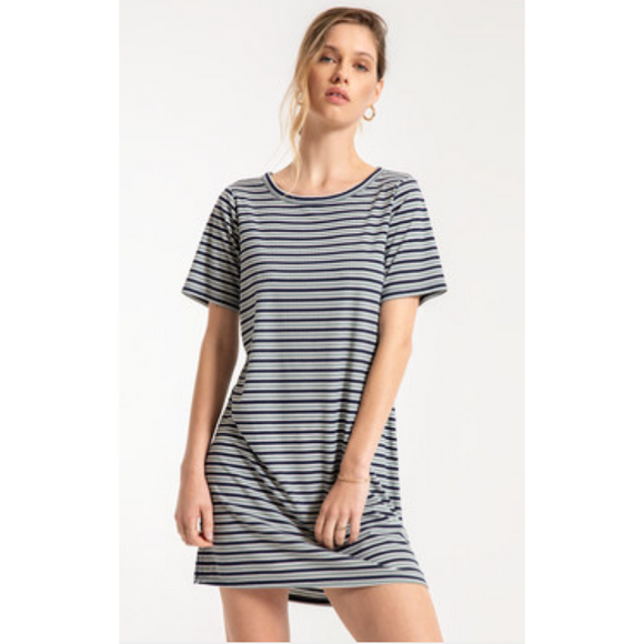 Johnie Girl Striped T-Shirt Dress