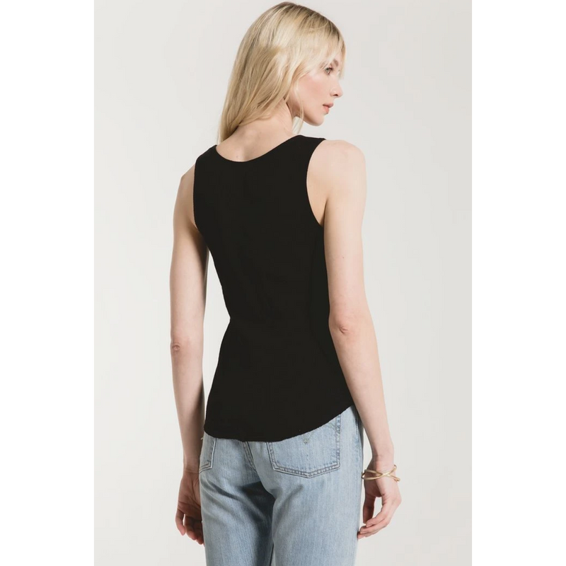 Textured Ribbed Fitted Tank