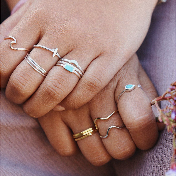 Pura Vida Delicate Stacked Ring