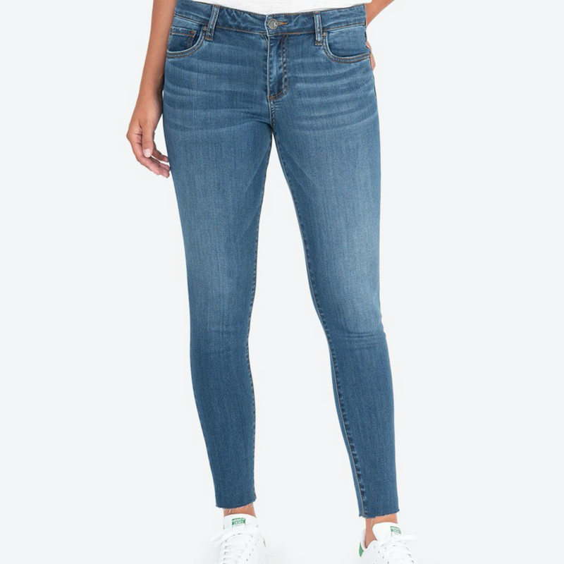 KUT Donna Ankle Skinny with Raw Hem
