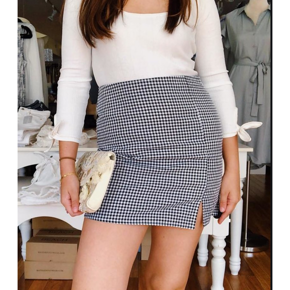 Truly Madly Deeply Gingham Skirt
