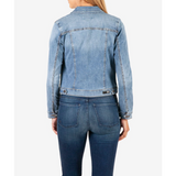 Amelia Denim Jacket Easygoing w/ Medium Base Wash