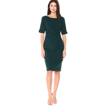 Stretch Crepe Side Drape Sheath