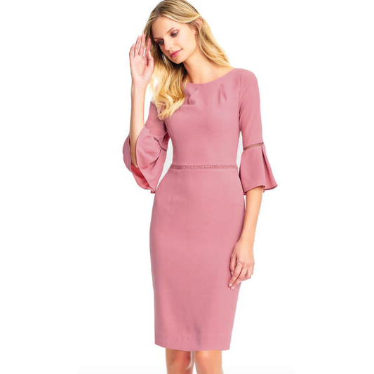 Textured Crepe Sheath Dress