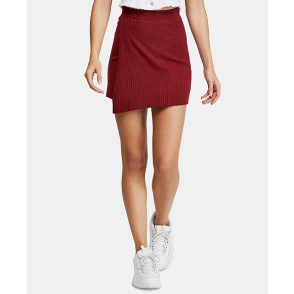 Free People Mod Faux Wrap Mini Skirt