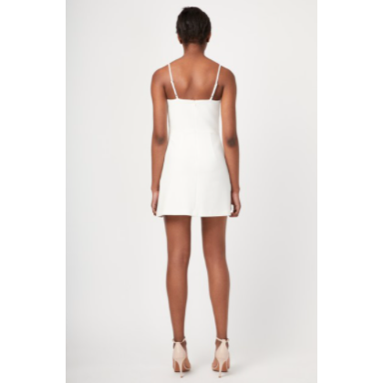 Summer White V-Neck Flared Skirt Dress