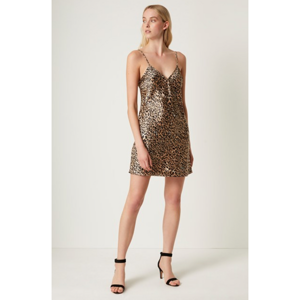 French Connection Strappy Leopard Dress