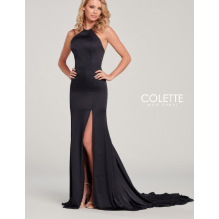 High Neck Sleek Formal Gown