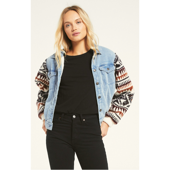Gia Knit Denim Jacket
