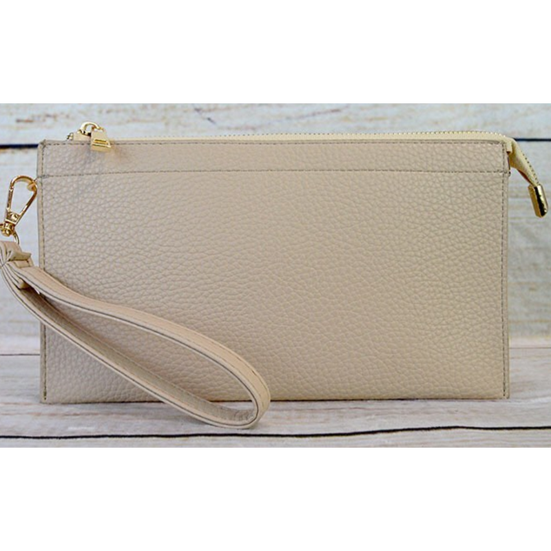 Tri-Pocket Convertible Wristlet
