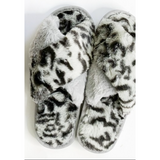 Leopard Print Furry Slippers