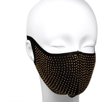 Rhinestone Embellished Washable Face Mask