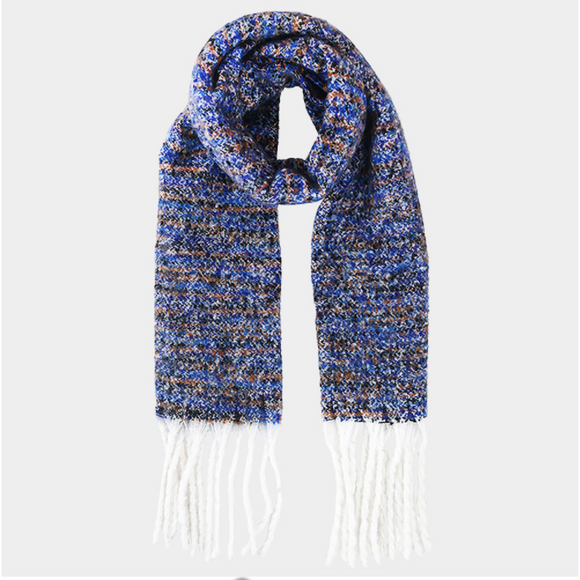 Blue Multi Yarn Scarf