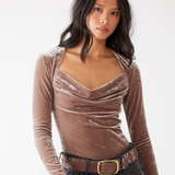 Perfect Date Top Taupe