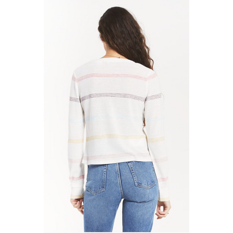 Aspen Stripe Long Sleeve Tee