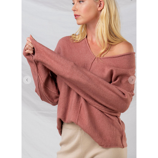 Reversed Seam Sweater