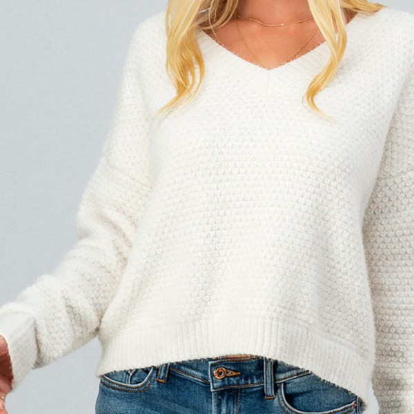 Scallop Knit Sweater