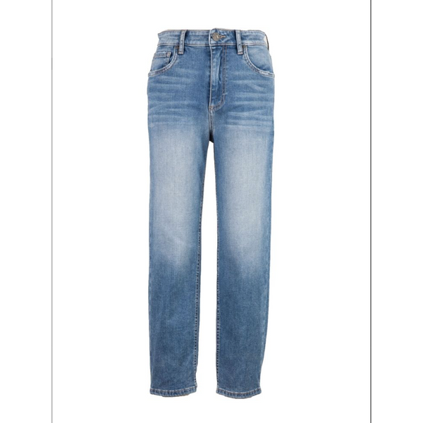 Elizabeth High Rise Crop Straight Leg (Moral Wash)