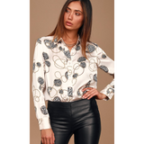 Breaking Chains Satin Button Up