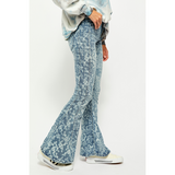 Free People Dream Lover Flare Printed Denim