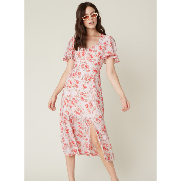 BB Dakota Endless Love Floral Midi Dress