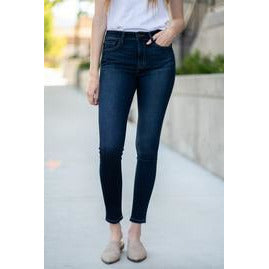High Rise Ankle Skinny Jeans (Blue Babe Wash)