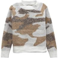 Camo Knit Crewneck Sweater