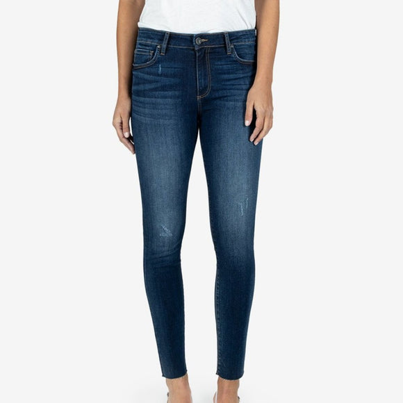 KUT Connie High Rise Ankle Skinny (Pose Wash)