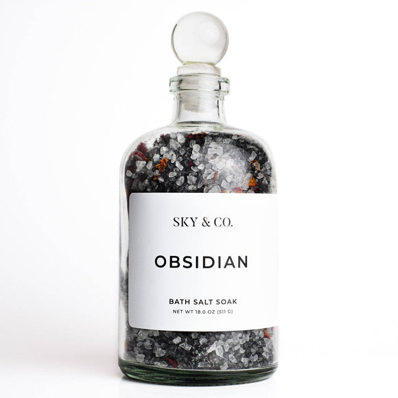 Sky and Company - 18oz Obsidian - Bath Salt Soak