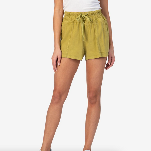 Smocked Waist Drawcord Shorts